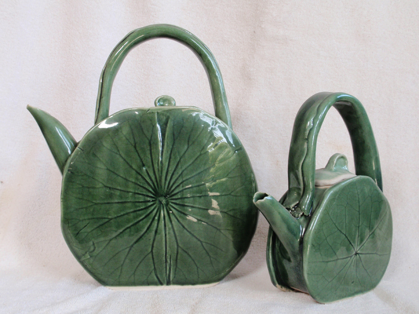 Danyel Dean | Ceramics | Pottery | Santa Barbara, California | Lotus Leaf Tea Pots